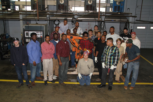 Hunter Engineering donates welding robot to Goodman CTE Department