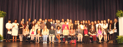 Pictured are the 48 Holmes Phi Theta Kappa Alpha Lambda Sigma Chapter inductees following the ceremony on Feb. 27. Inductees included: Anna Booth, Matthew Burnham, Kade Clinton, Benjamin Crout, Nancy Duarte-Sanchez, Addie Fetcko, , Anna Fortenberry, Cameron Fortenberry, Chloe Fortner, Julie Frost, Maya Gipson, Michael Gonzalez, Christy Griffith, Evelyn Beyoncé Henderson, Gracie High, Brandon Hines, Brian Johnson, Trinity Jones, Donnell Kinnard, Joy Kate Lawson, Clayton McCarter, Ashley McFarland, Lael McNair, Sophia Melgar, Steven Middleton, Olivia Milner, Tyler Murphy, Maha Musa, Asia Pittman, Adriana Reed, Margaret Sanders, Allison Shaw, Love Preet Singh, Matthew Sinclair, Deja Sloan, John Springer, Fallon Stephens, Addison Stevens, Yarenni Valdez, Bryce Varner, Bree Vierling, Roxanne Washington, Zac Watkins, Caroline Wheel, Quindarius White, Caroleshia White-Tower, Evan Woods and Holley Yates.